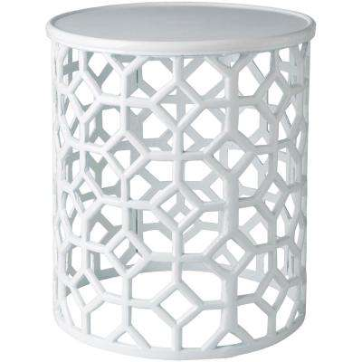Athina White Accent Table