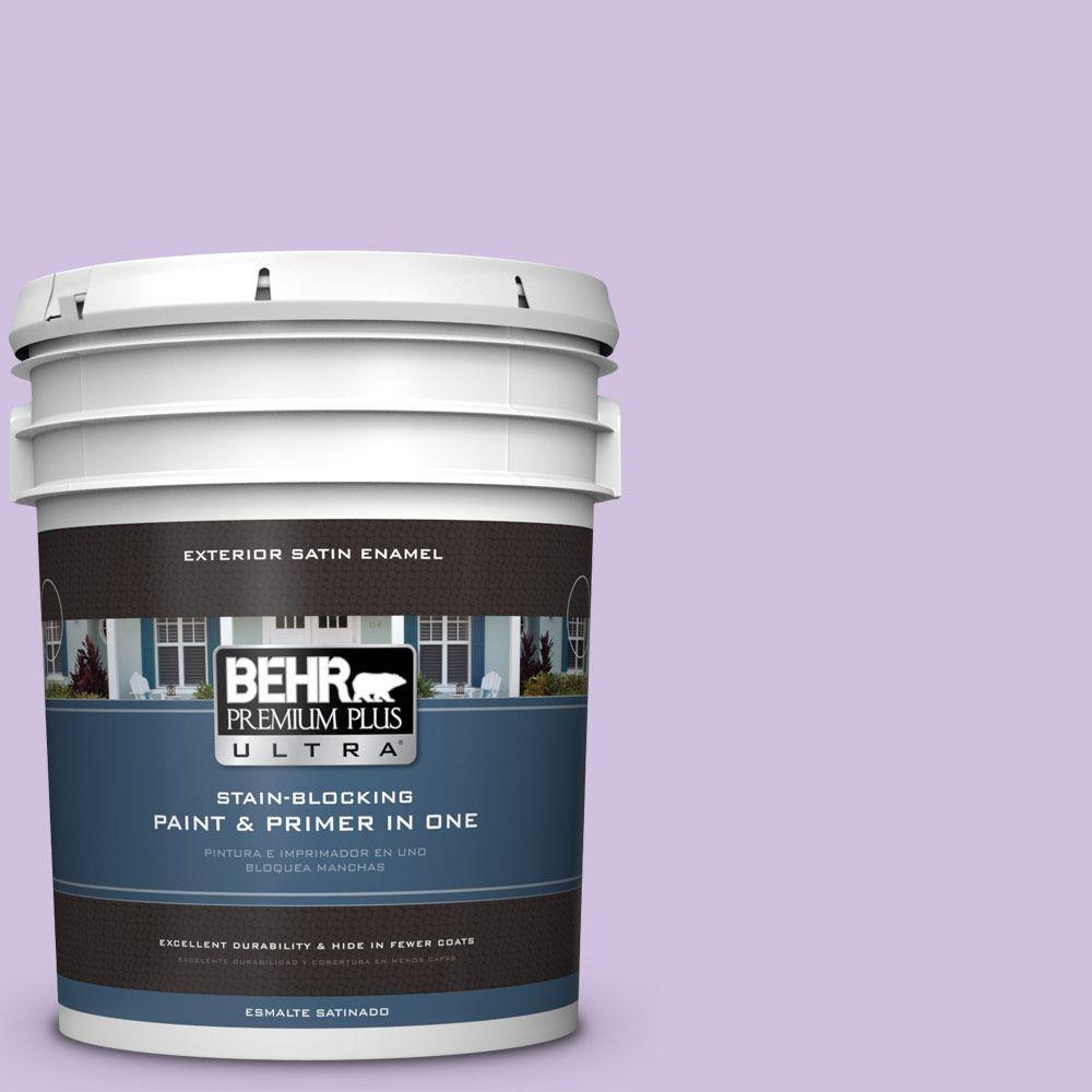 BEHR Premium Plus Ultra 5-gal. #650A-3 Fresh Heather Satin Enamel Exterior Paint