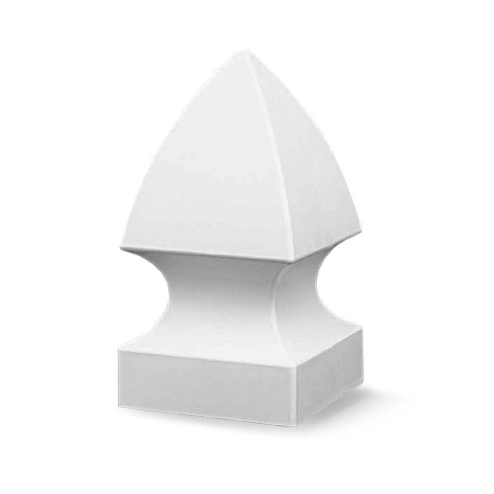 4 in. x 4 in White Vinyl Gothic Fence Post Cap