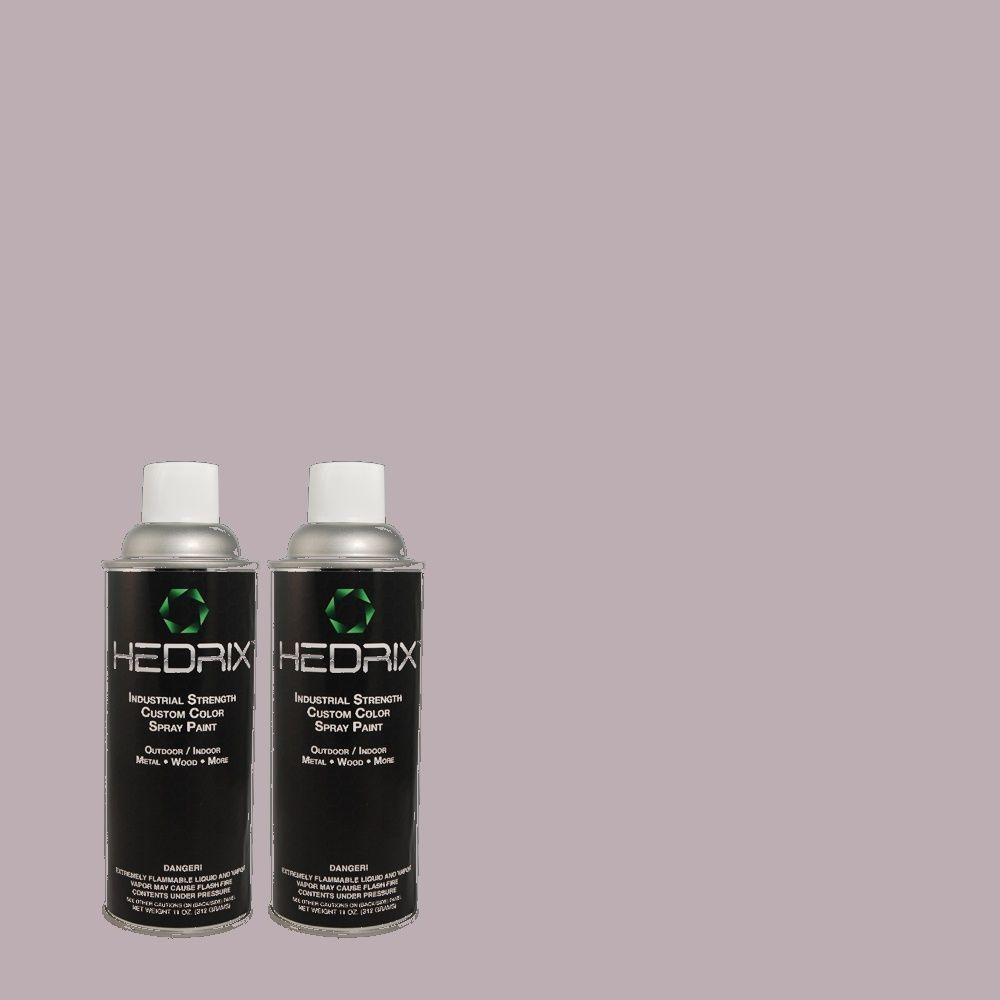 Hedrix 11 oz. Match of ICC-98 Lilac Bloom Semi-Gloss Custom Spray Paint (2-Pack)