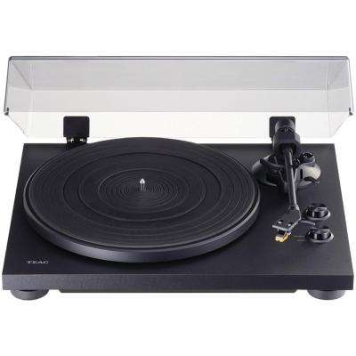 2-Speed Analog Turntable in Black