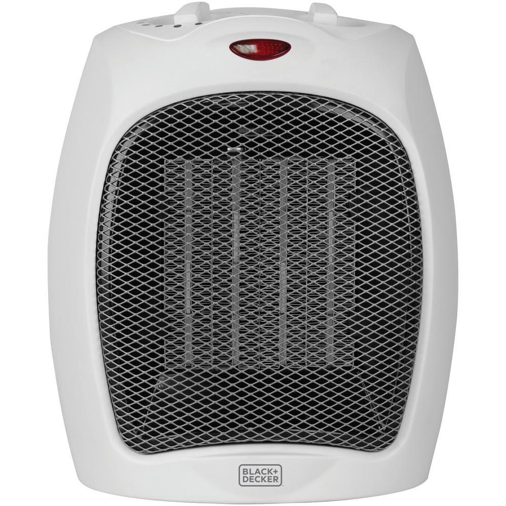 1500-Watt White Desktop Electric Ceramic Space Heater