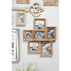 Litton Lane Wooden Collage Picture Frames Wall Decor With 6