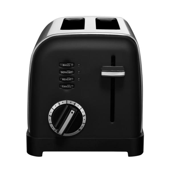 Classic Series 2-Slice Black Wide Slot Toaster with Crumb Tray