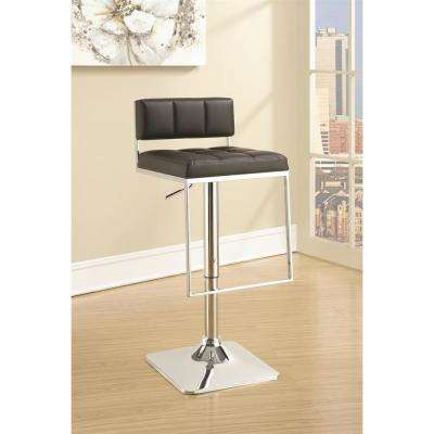 Rec Room Adjustable Black Low-Back No Arms Bar Stool