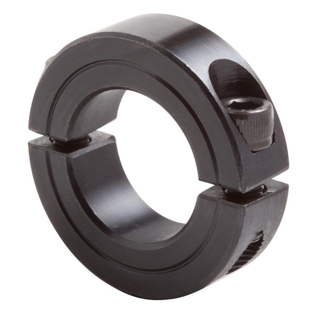 1/2 in. Bore Black Oxide Coated Mild Steel Clamp Collar