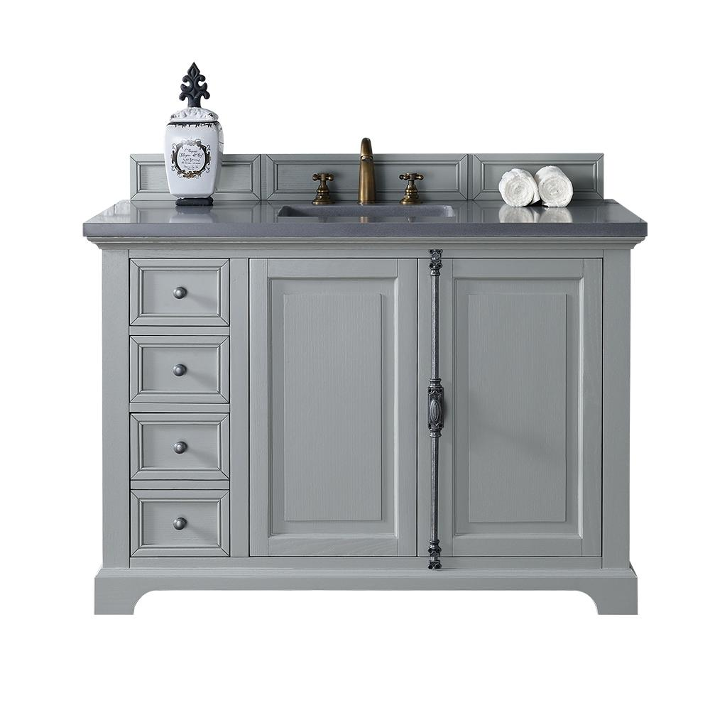 Providence 48 in. W Single Vanity in Urban Gray with Quartz
