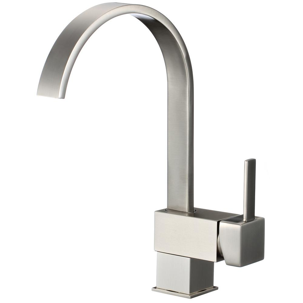 Single-Handle Pull-Down Sprayer Kitchen Faucet in Brushed Nickel