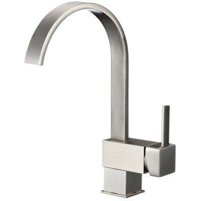 Awesome Single Handle Pull Down Sprayer Kitchen Faucet In Brushed Nickel