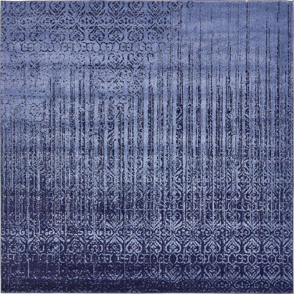 Del Mar Jennifer Blue 8' 0 x 8' 0 Square Rug