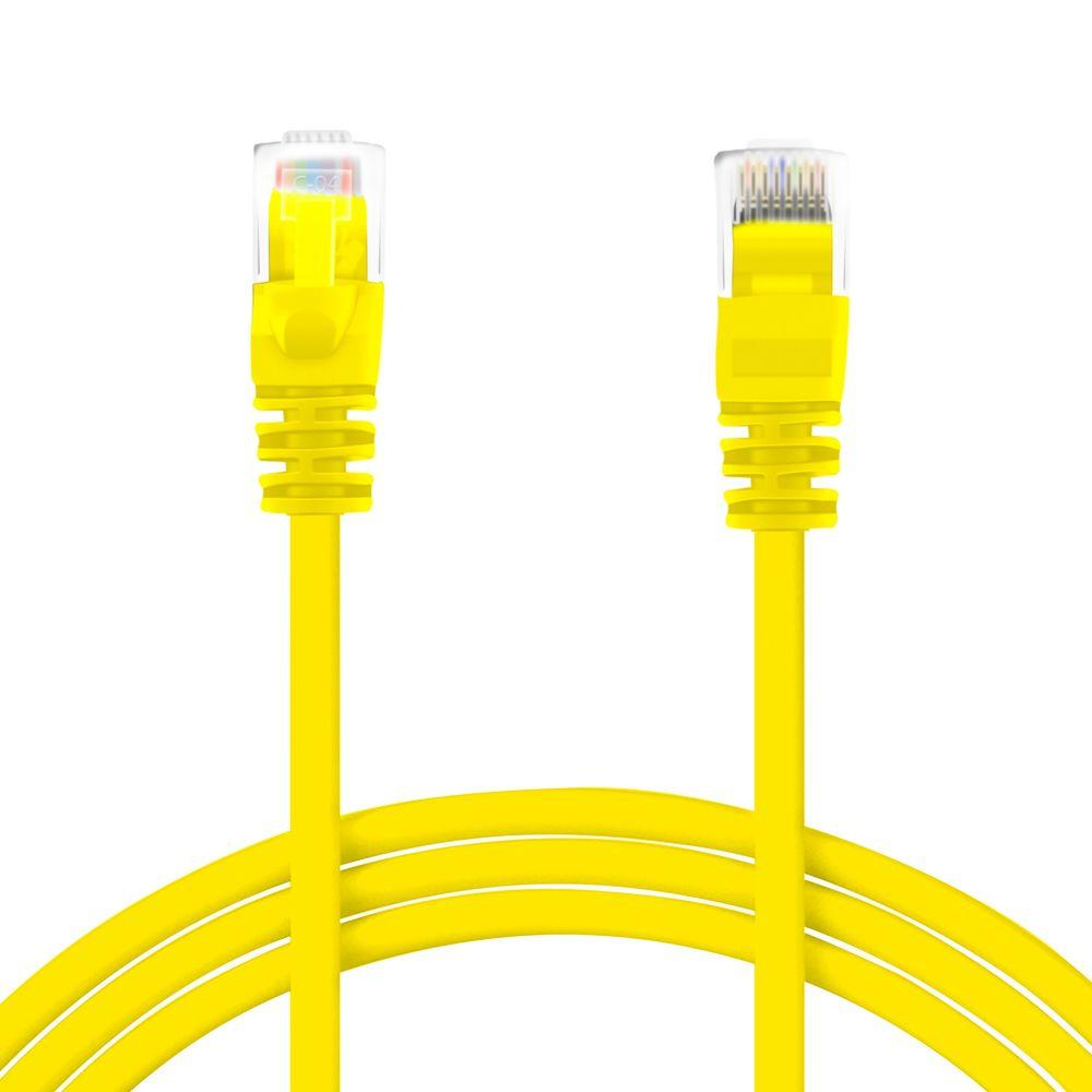 GearIt 20 ft. Cat5e Ethernet LAN Network Patch Cable - Yellow (10-Pack)