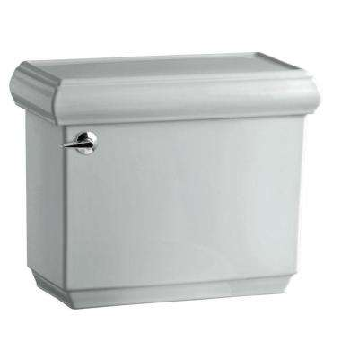 Memoirs 1.28 GPF Single Flush Toilet Tank Only with AquaPiston Flushing Technology in Ice Grey
