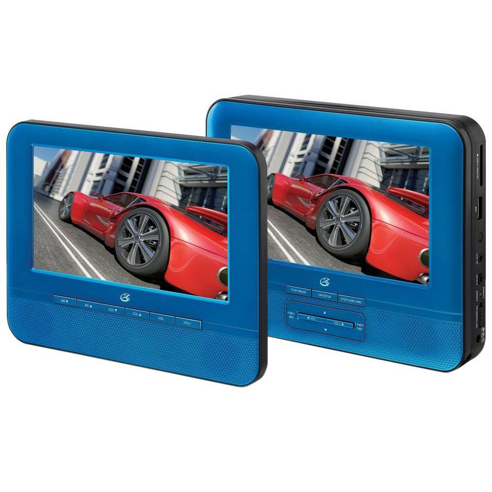 Gpx 7 in. Dual Screen Portable DVD Player