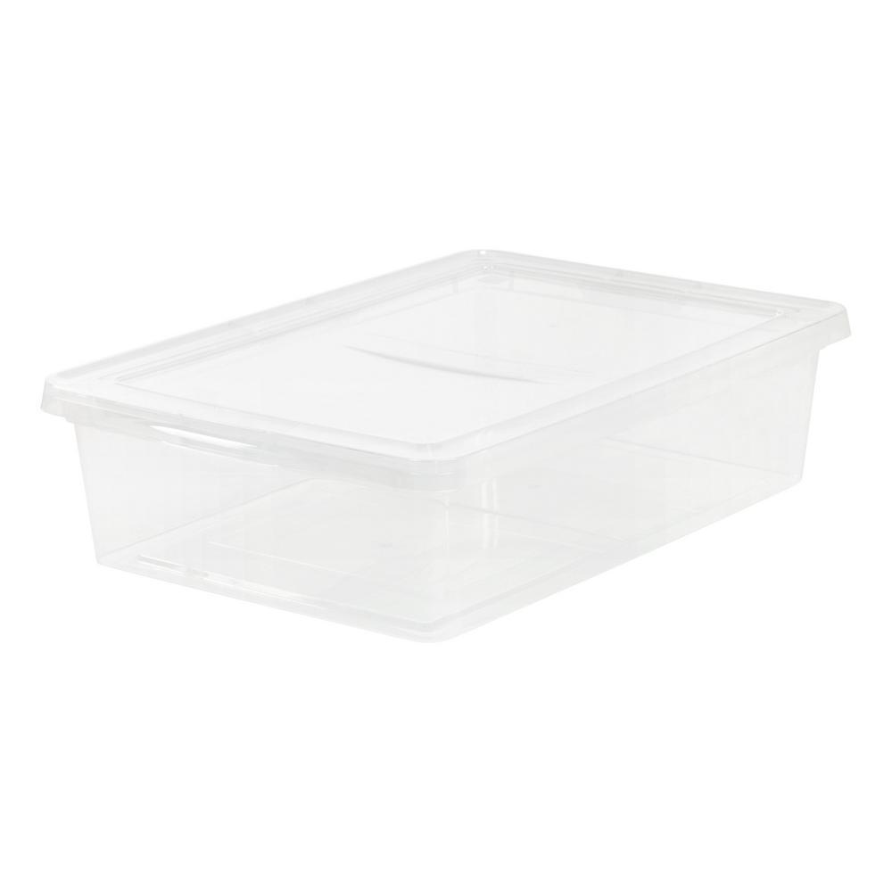 Sterilite 28 Qt Storage Box 16556a10 The Home Depot