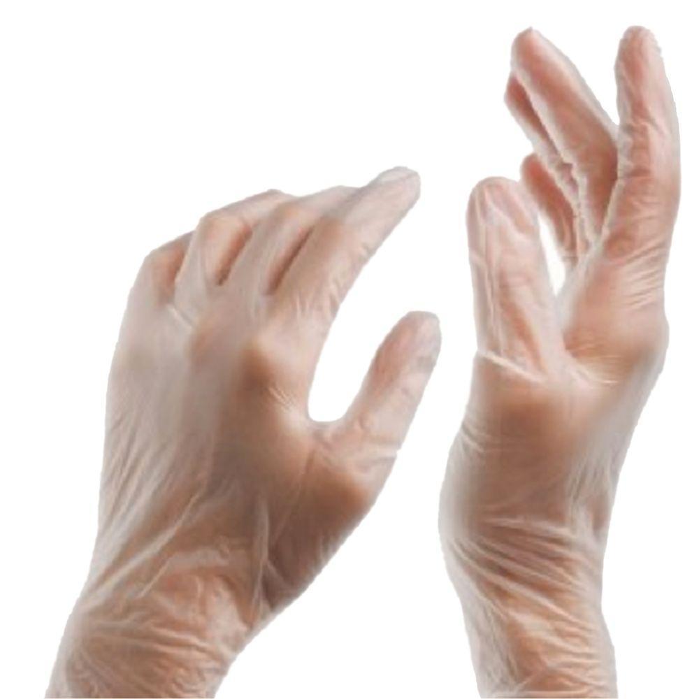 Safe Handler Powder Free Multi Purpose Disposable Medium Vinyl Gloves (100-Count)