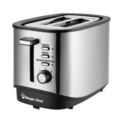 2-Slice Stainless Steel Wide Slot Toaster with Crumb Tray