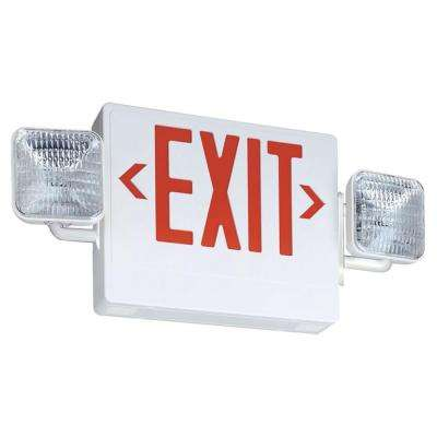 Thermoplastic Integrated LED Emergency Exit Sign/Fixture Unit Combo
