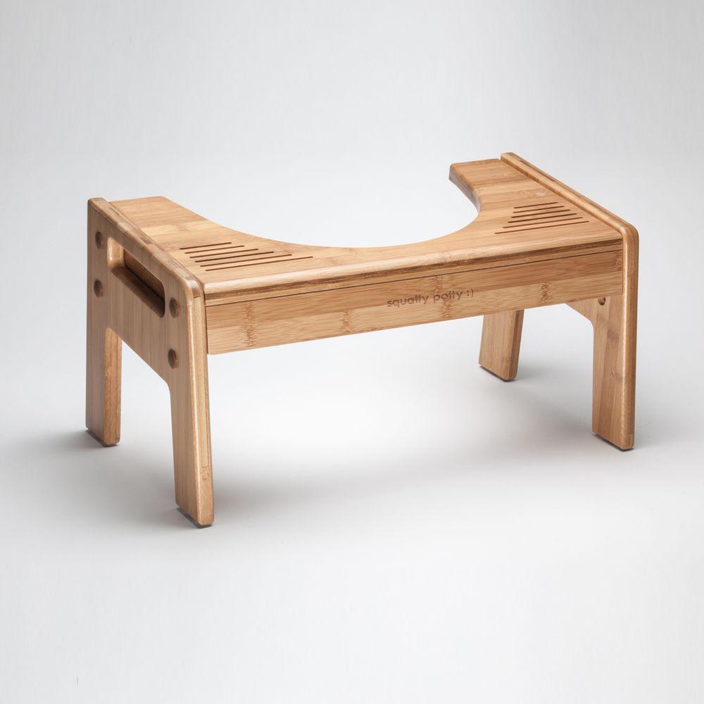 Wondrous Squatty Potty Tao Bamboo Adjustable Wood Toilet Stool Evergreenethics Interior Chair Design Evergreenethicsorg