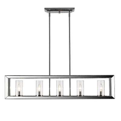 Smyth CH 5-Light Chrome Pendant with Clear Glass