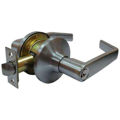 Satin Chrome Tubular Calypso Keyed Entry Door Lever