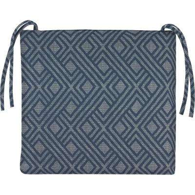 20 x 17.5 Outdoor Chair Cushion in Sunbrella Integrated Indigo