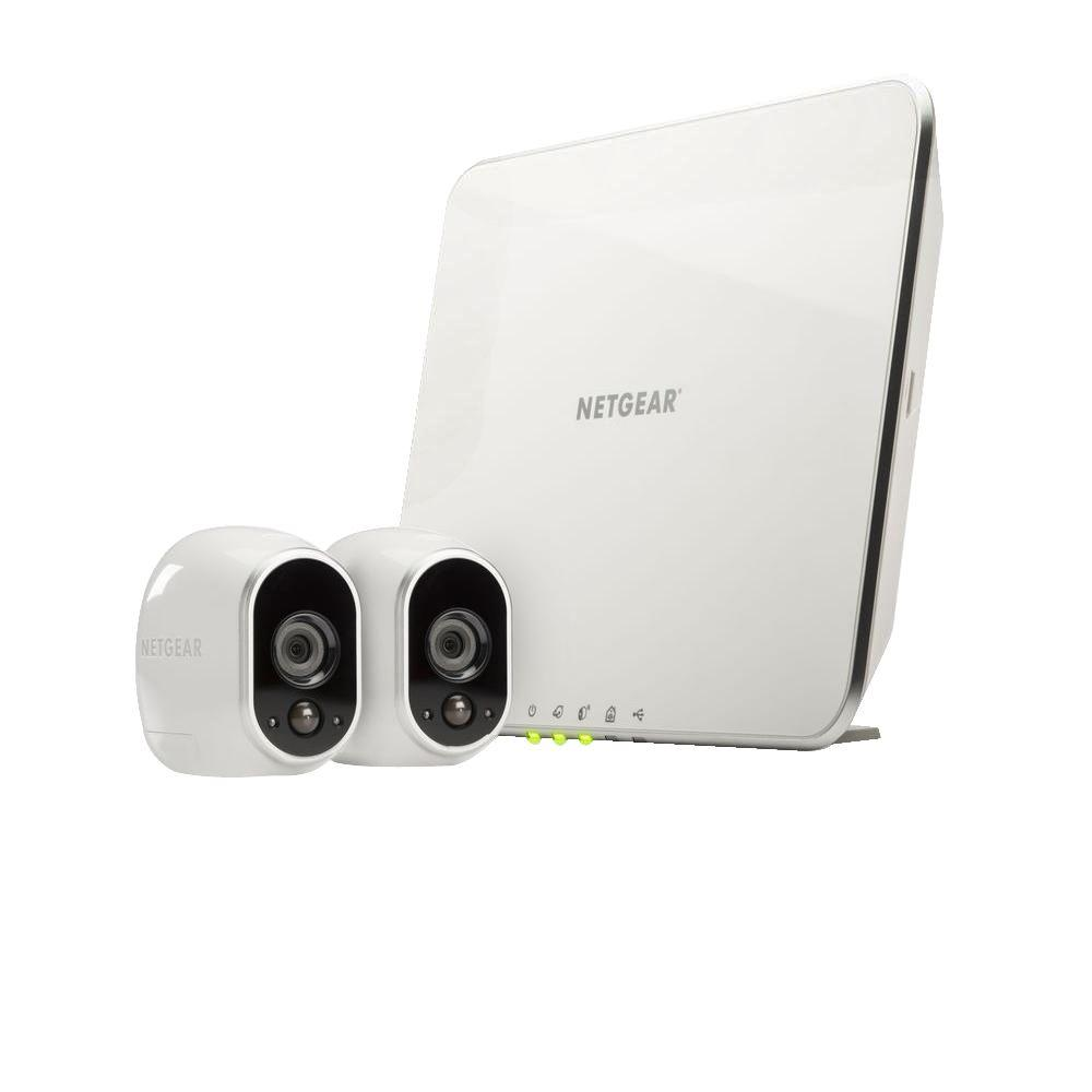 Netgear arlo smart home wireless 1280tvl indoor outdoor 2 hd security camera with night vision - Exterior surveillance cameras for home ...