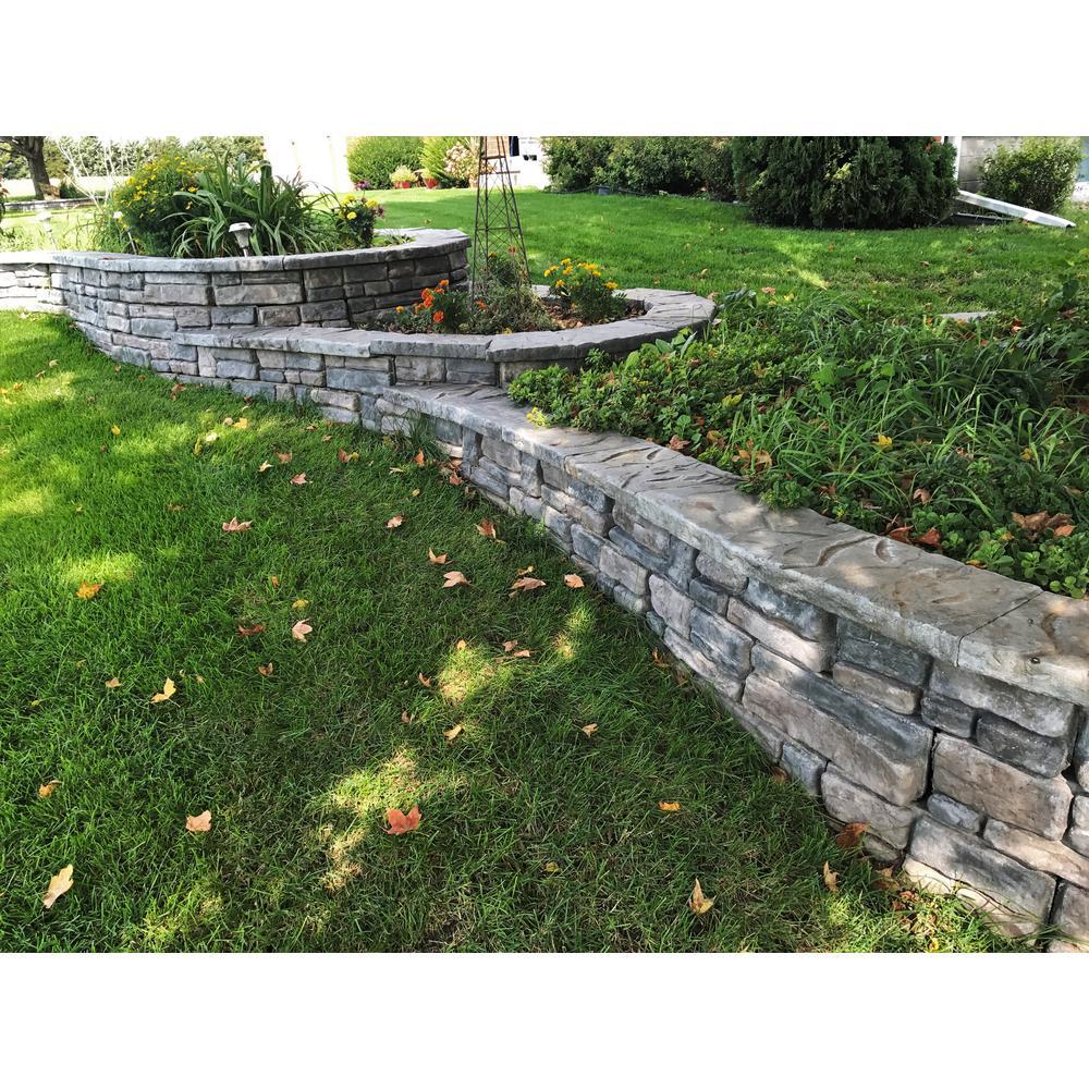 Panama 8.25 in. x 16 in. x 6 in. Limestone Concrete Retaining Wall Garden Block