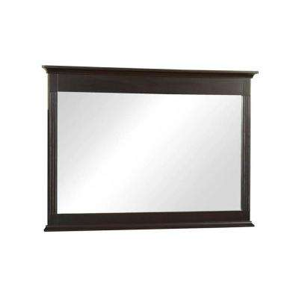 32 in. L x 46 in. W Framed Wall Mirror in Espresso