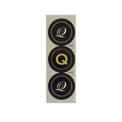 Q Monogram Decorative Bathroom Sink Stopper Laminates (Set of 3)