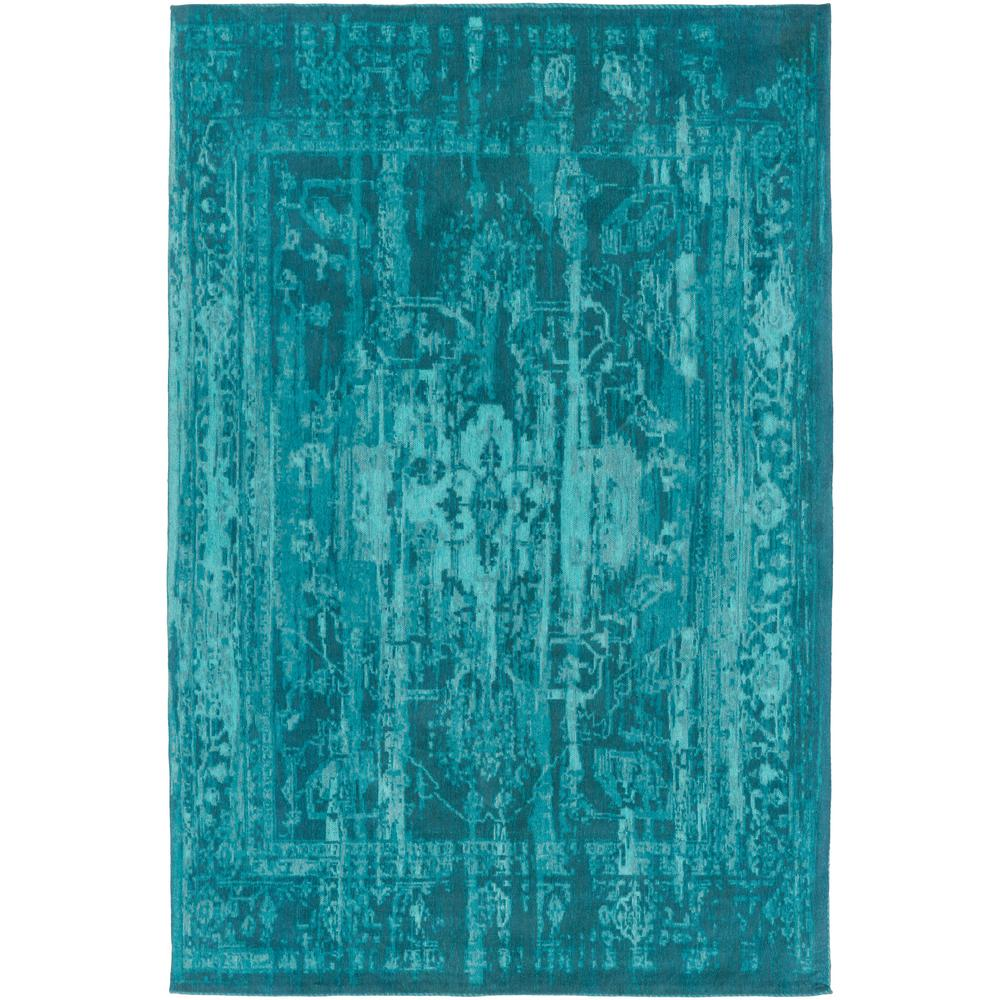 Nuloom Vintage Inspired Turquoise Overdyed Rug: NuLOOM Vintage Inspired Overdyed Turquoise 4 Ft. X 6 Ft