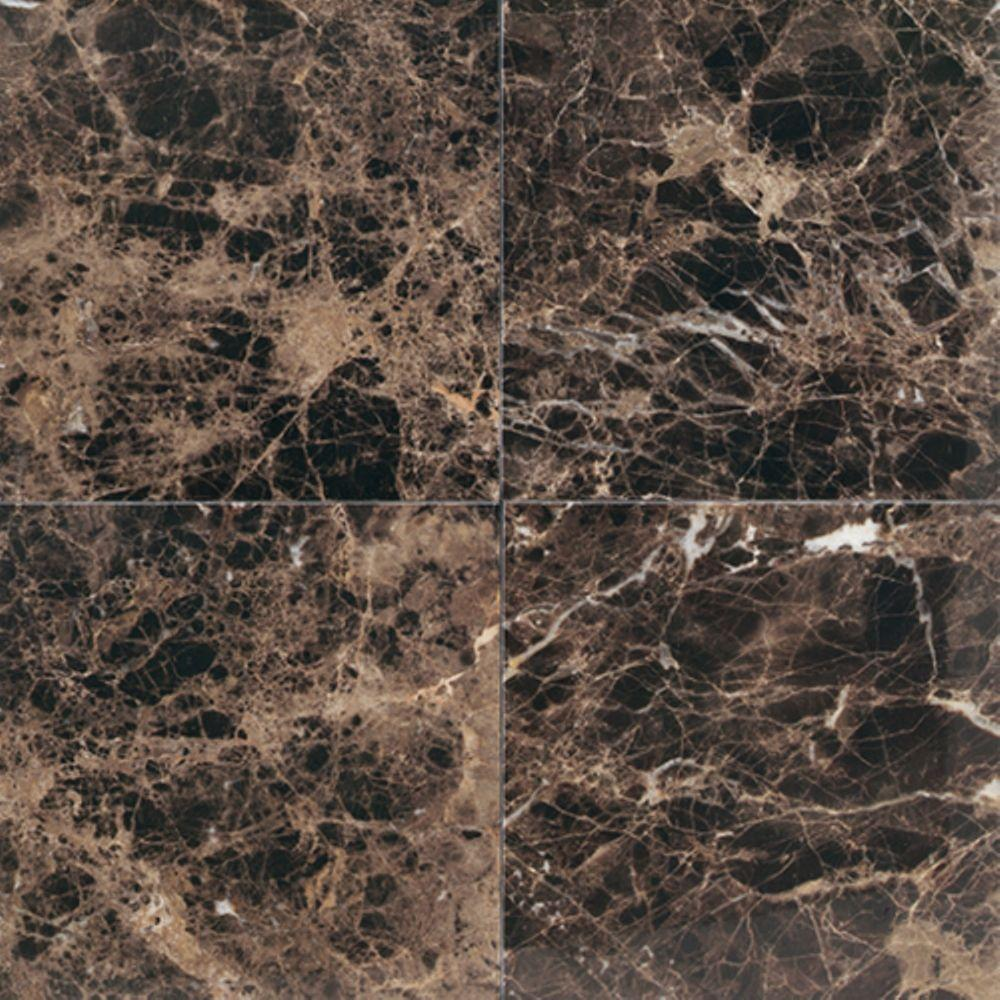 Natural Stone Collection Emperador Dark 12 in. x 12 in. Polished