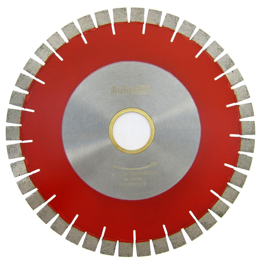 12 in. Bridge Saw Blade with V-Shaped Segment for Granite Cutting