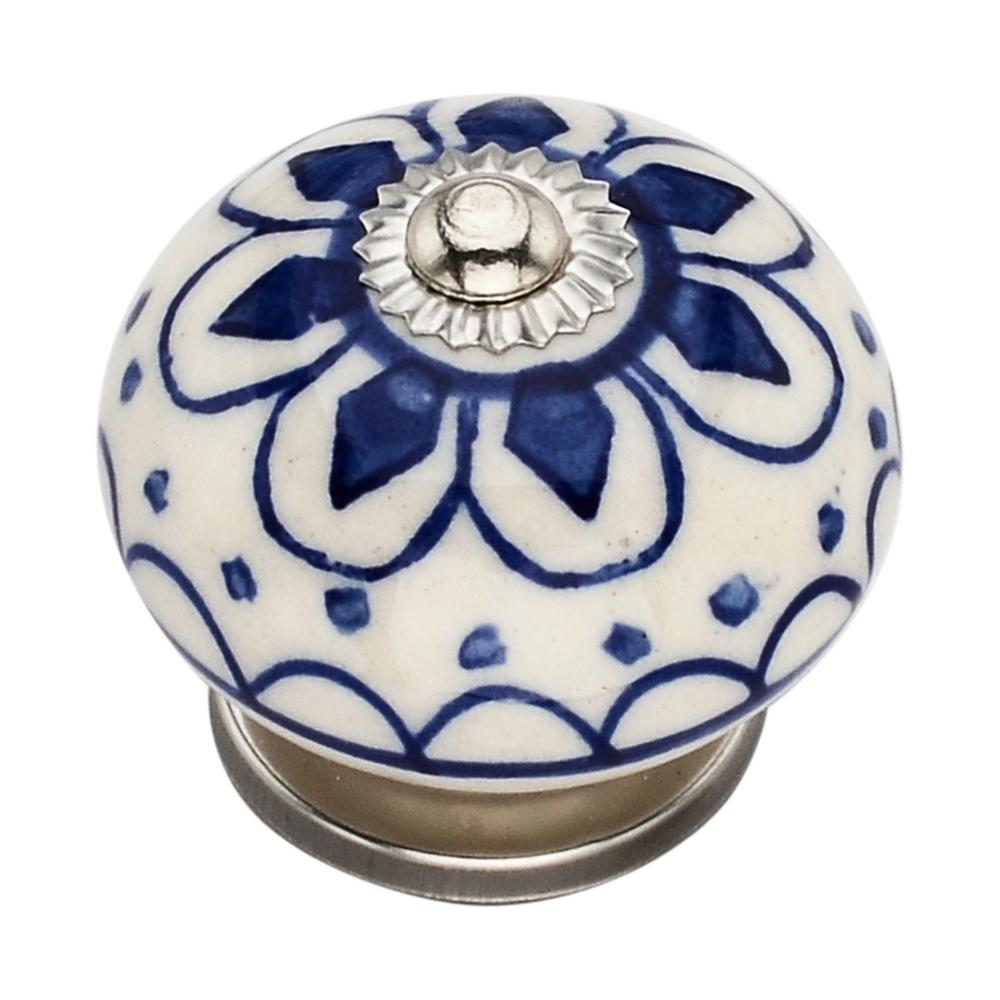Mascot Hardware Omaha Washed 1.57 in. Blue Cabinet Knob