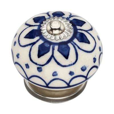 Omaha Washed 1.57 in. Blue Cabinet Knob