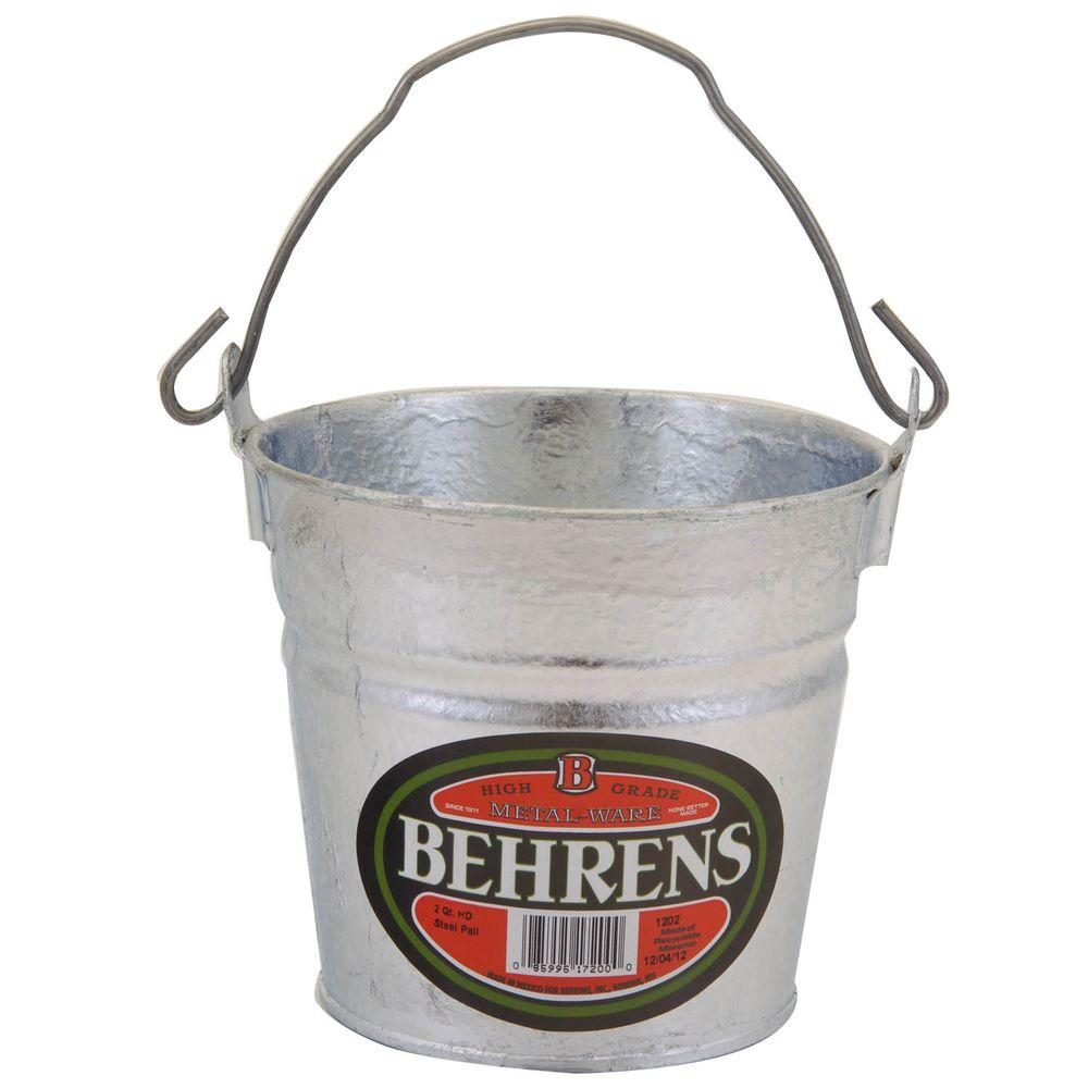 2 Qt. Hot Dipped Steel Pail