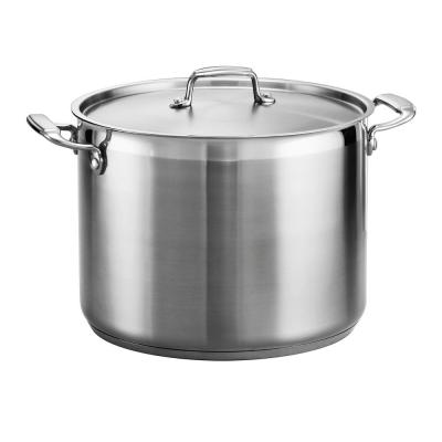 Gourmet 16 qt. Stainless Steel Stock Pot with Lid