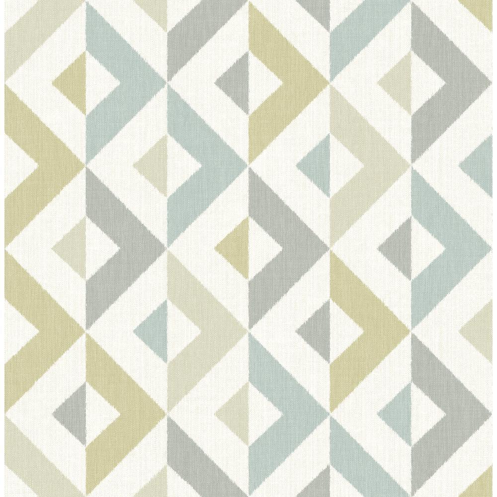 A-Street Seesaw Grey Geometric Faux Linen Wallpaper Sample 2902-25544SAM