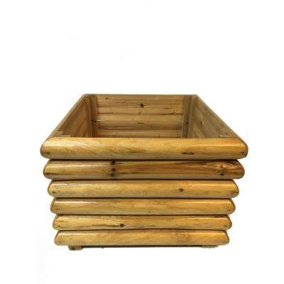 20 in. W Log Square Planter