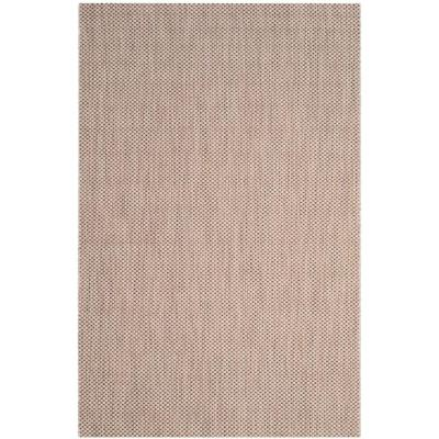 Courtyard Beige/Brown 7 ft. x 10 ft. Indoor/Outdoor Area Rug