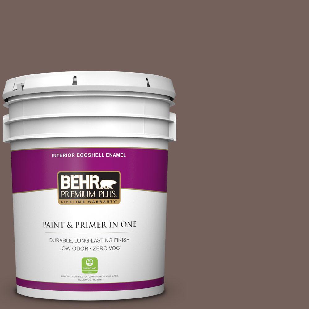 5 gal. #730B-6 Sweet Truffle Zero VOC Eggshell Enamel Interior Paint