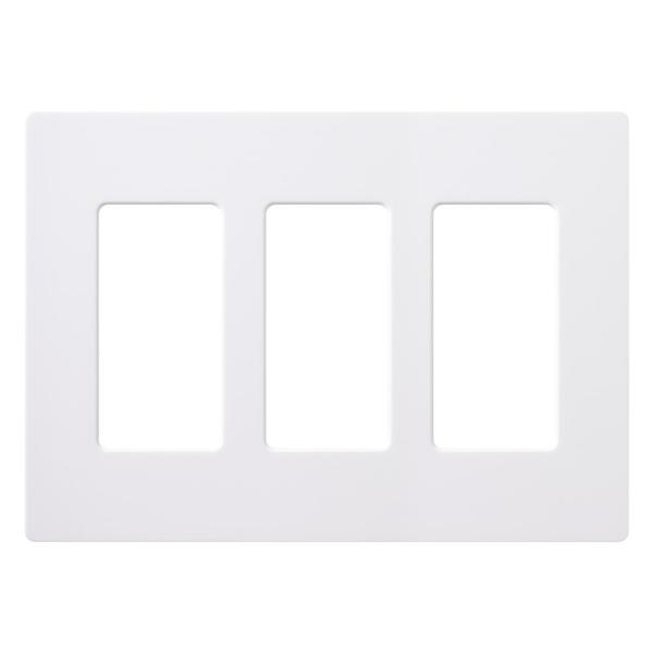 Claro 3 Gang Decorator/Rocker Wallplate,  White (1-Pack)