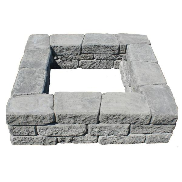 Romanstack 39 in. x 39 in. Concrete Fire Pit Kit in Cascade Blend