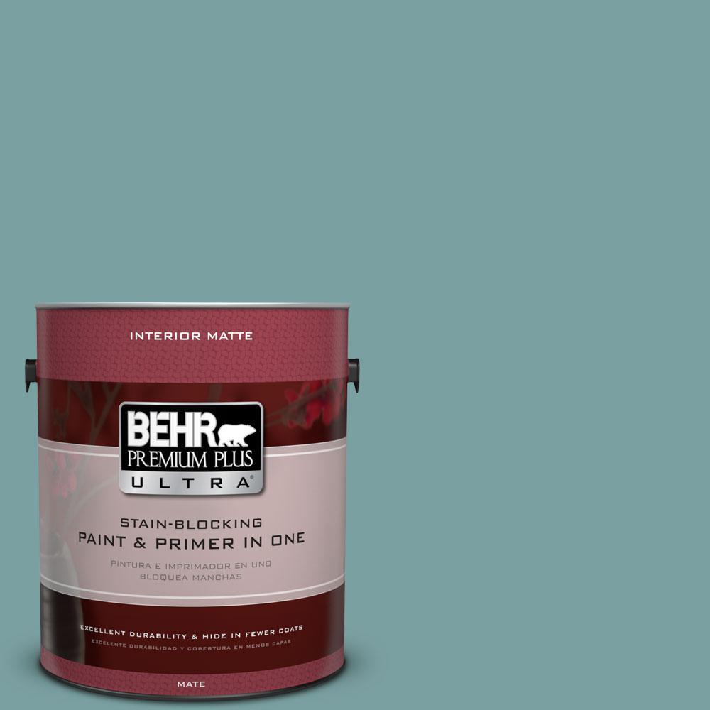 BEHR Premium Plus Ultra 1 gal. #S440-4 Tower Bridge Matte Interior Paint