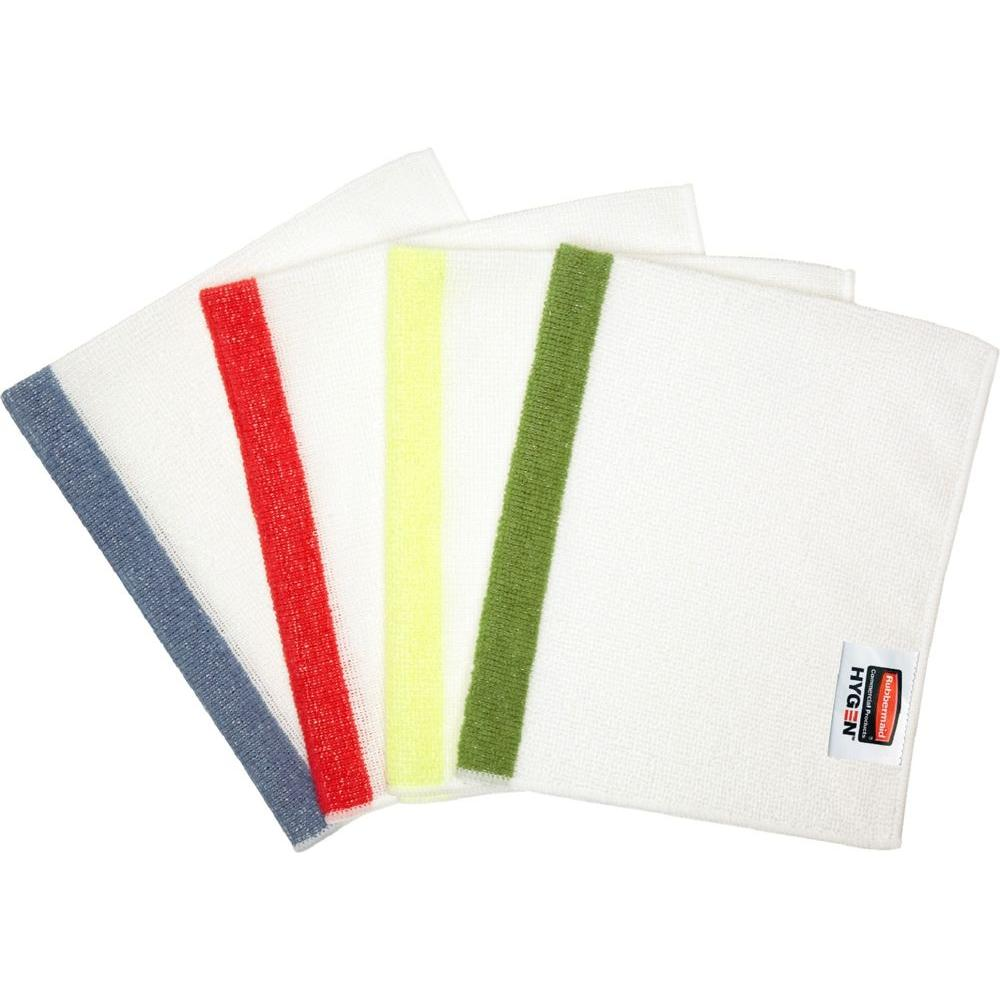 Rubbermaid Commercial Products Sanitizer-Safe Microfiber Cloths (4-Pack)