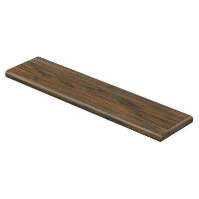 Saratoga Hickory 94 in. Length x 12-1/8 in. Deep x 1-11/16 in. Height Laminate Right Return to Cover Stairs 1 in. Thick