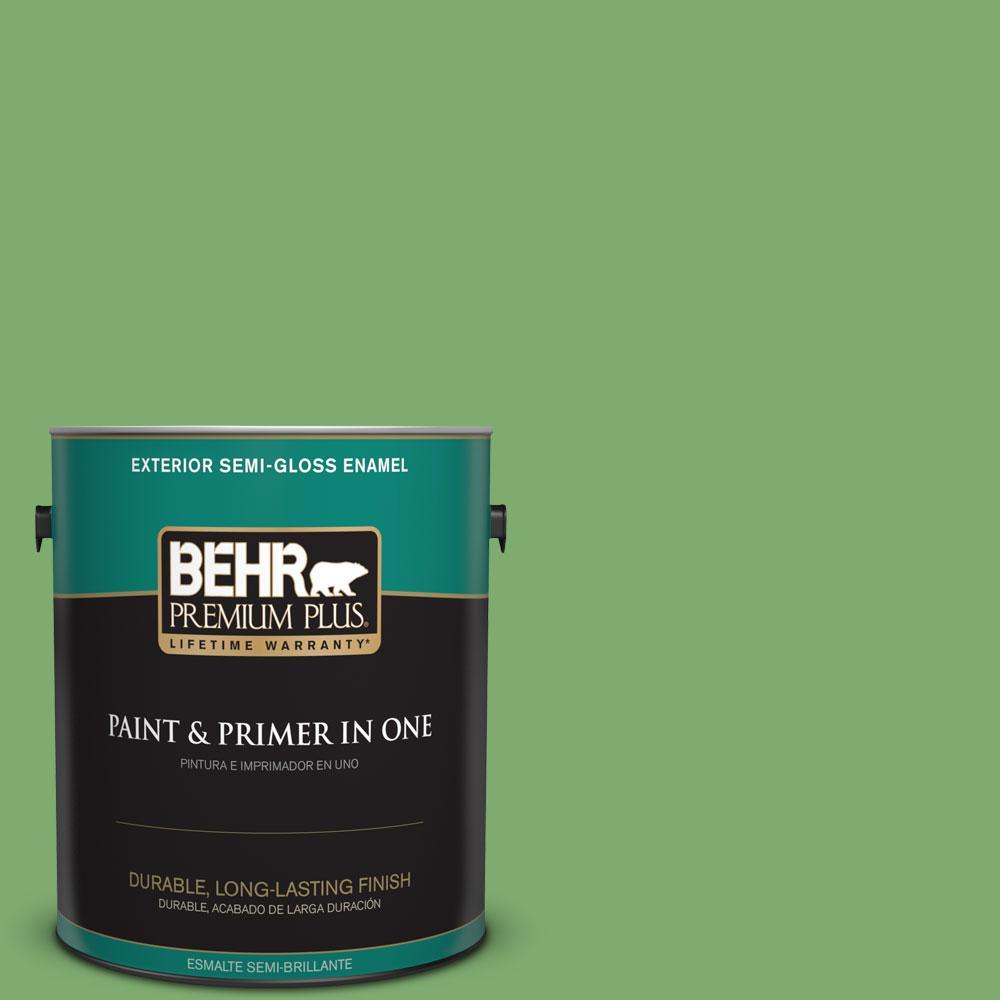 1-gal. #M390-5 Sage Garden Semi-Gloss Enamel Exterior Paint