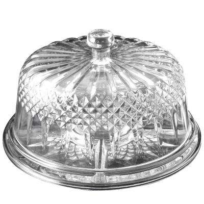 Jewelite Glass Multi-Purpose Cake Stand with Dome