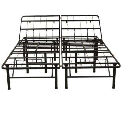 Hercules Full-Size 14 in. H Adjustable Heavy Duty Metal Platform Bed Frame