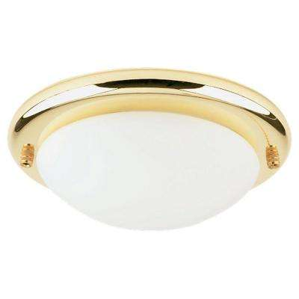 1-Light Polished Brass Fluorescent Ceiling Fan Light Kit