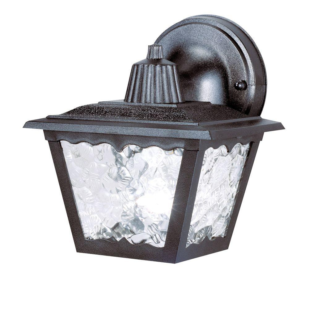 Westinghouse 1 Light Black On Hi Impact Polypropylene Exterior Wall Lantern With Clear Textured